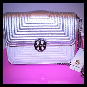 NWT Tory Burch Tri-Color Leather Bag